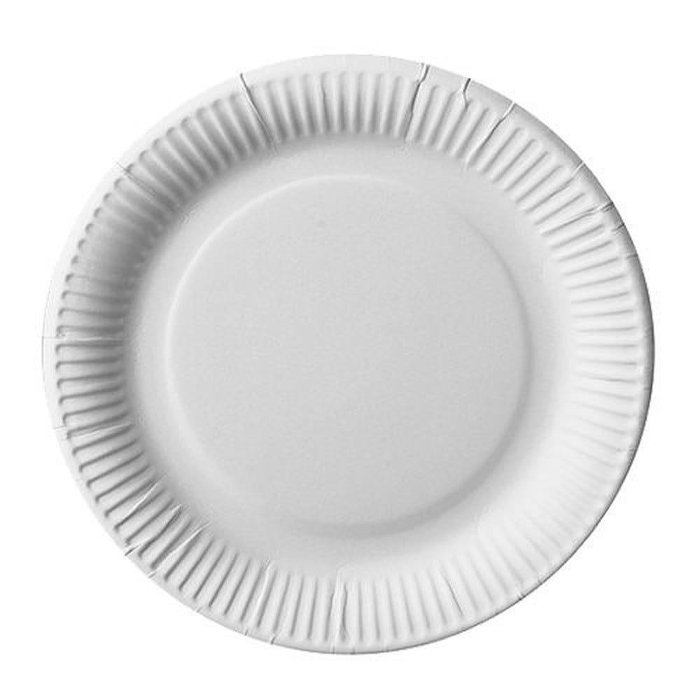 Assiette en carton ''pure'' ronde Ø 23 cm blanc extra fort par 500