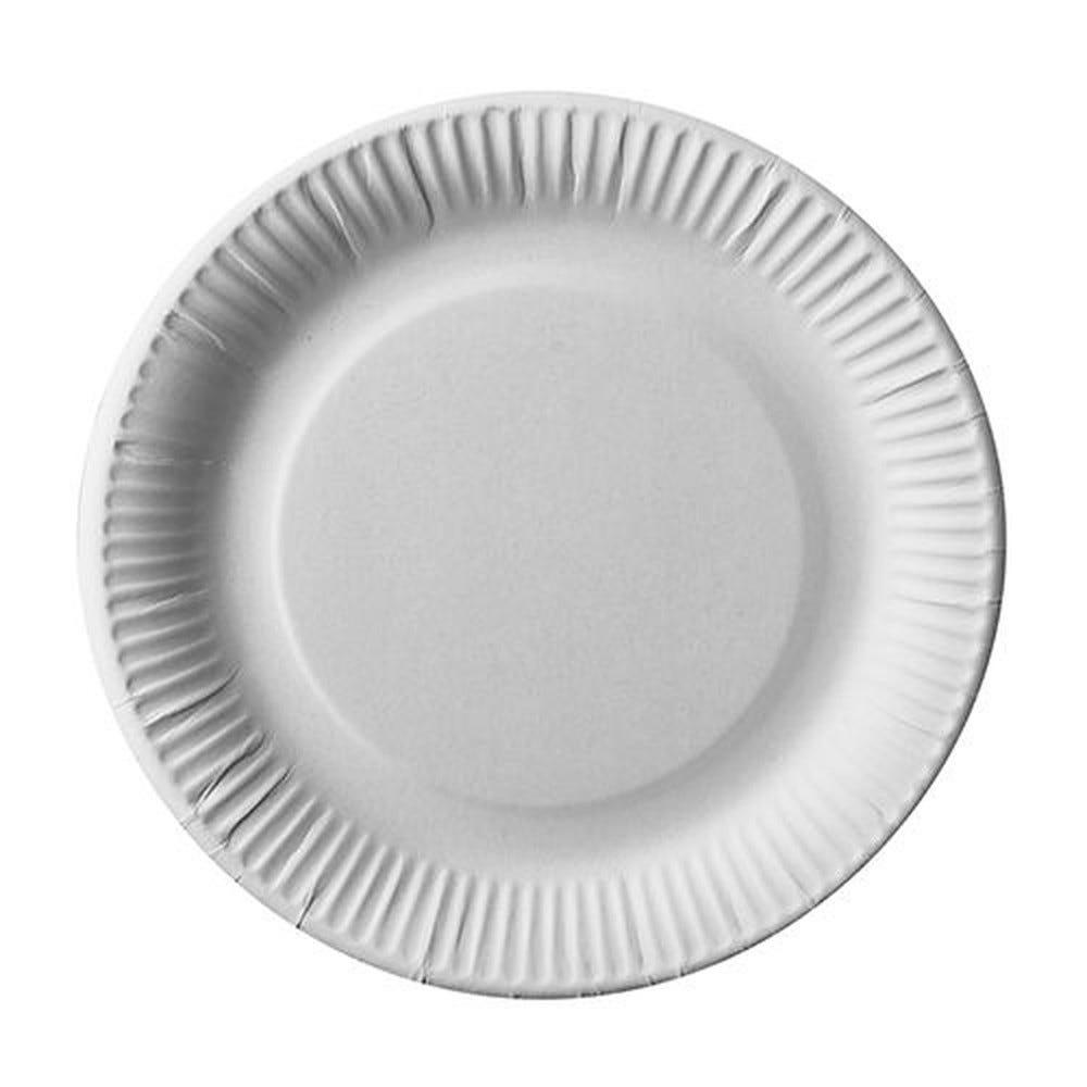 Assiette en carton ''pure'' ronde Ø 23 cm blanc par 600
