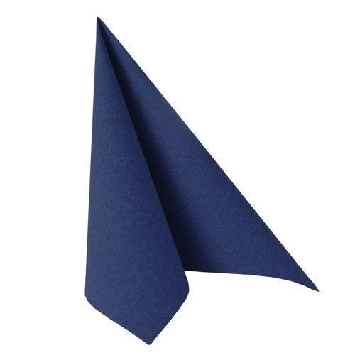 Serviette ''ROYAL Collection'' pliage 1/4 48 cm x 48 cm bleu foncé par 250