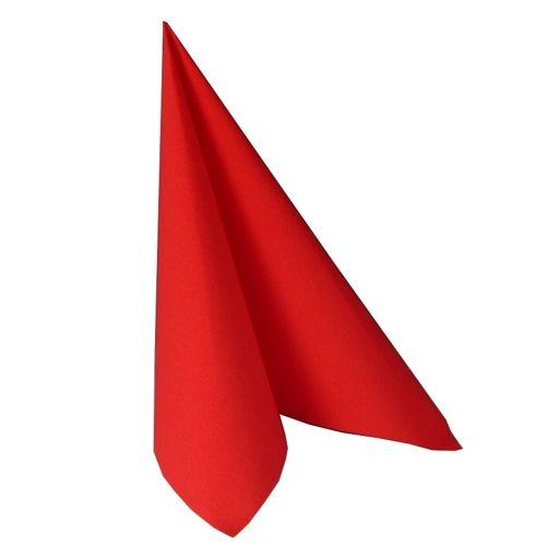 Serviette ''ROYAL Collection'' pliage 1/4 48 cm x 48 cm rouge par 250