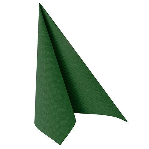 Serviette ''ROYAL Collection'' pliage 1/4 40 cm x 40 cm vert foncé par 250