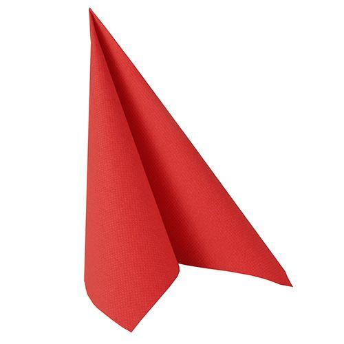 Serviette ''ROYAL Collection'' pliage 1/4 40 cm x 40 cm rouge par 250