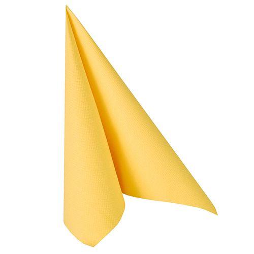 Serviette ''ROYAL Collection'' pliage 1/4 40 cm x 40 cm jaune par 250