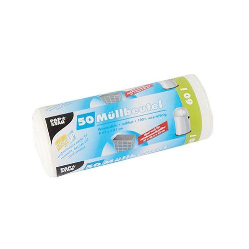 Sac poubelle, HDPE 60 l 81 cm x 63 cm blanc par 450