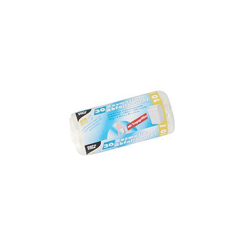 Sac poubelle avec poignées, HDPE 10 l 42 cm x 39,5 cm transparent par 600