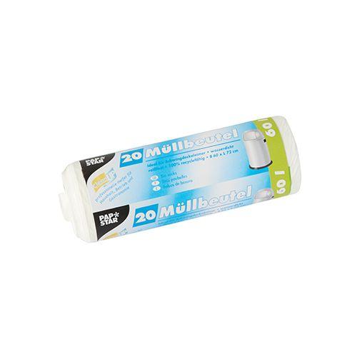 Sac poubelle, LDPE 60 l 72 cm x 60 cm blanc par 320