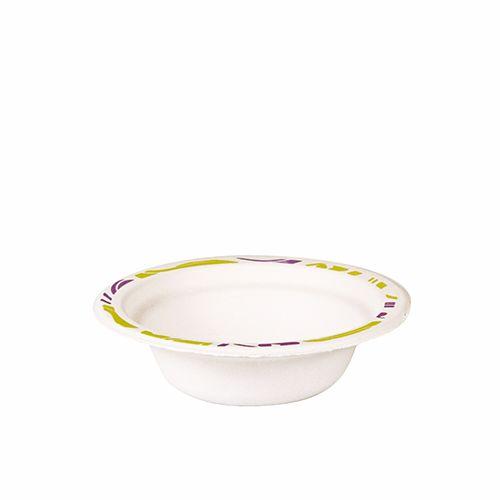 Bol en pulpe de bois rond 200 ml Ø 14 cm · 4 cm blanc ''Flavour'' par 500