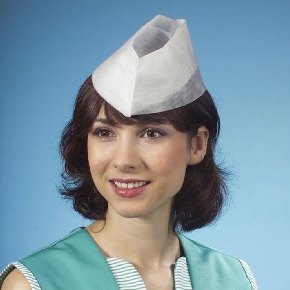 Calot en papier de soie 8,5 cm x 31 cm blanc par 500 (photo)