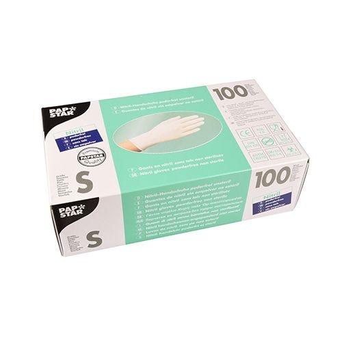 Gant d'examen en Nitrile, sans poudre blanc Taille S par 1000 (photo)