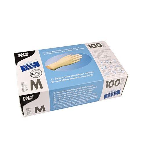 Gant en latex, non poudré blanc Taille M par 1000 (photo)