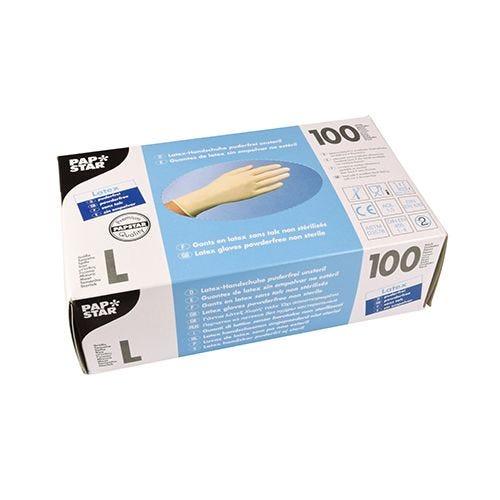Gant en latex, non poudré blanc Taille L par 1000 (photo)