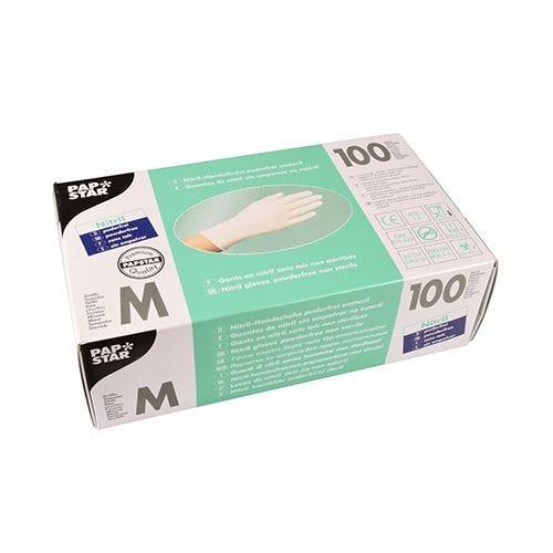 Gant d'examen en Nitrile, sans poudre blanc Taille M par 1000 (photo)