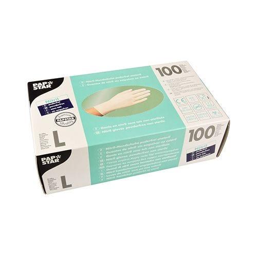 Gant d'examen en Nitrile, sans poudre blanc Taille L par 1000 (photo)