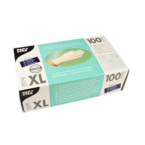 Gant d'examen en Nitrile, sans poudre blanc Taille XL par 1000 (photo)