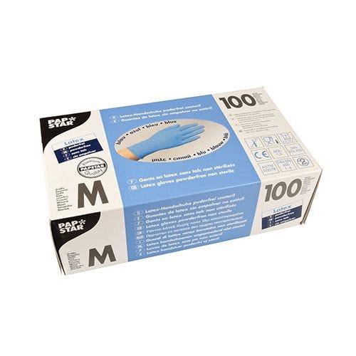 Gant en latex, non poudré bleu Taille M par 1000 (photo)