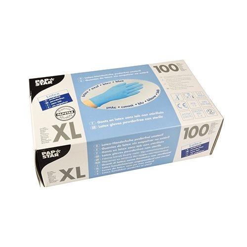 Gant en latex, non poudré bleu Taille XL par 1000 (photo)
