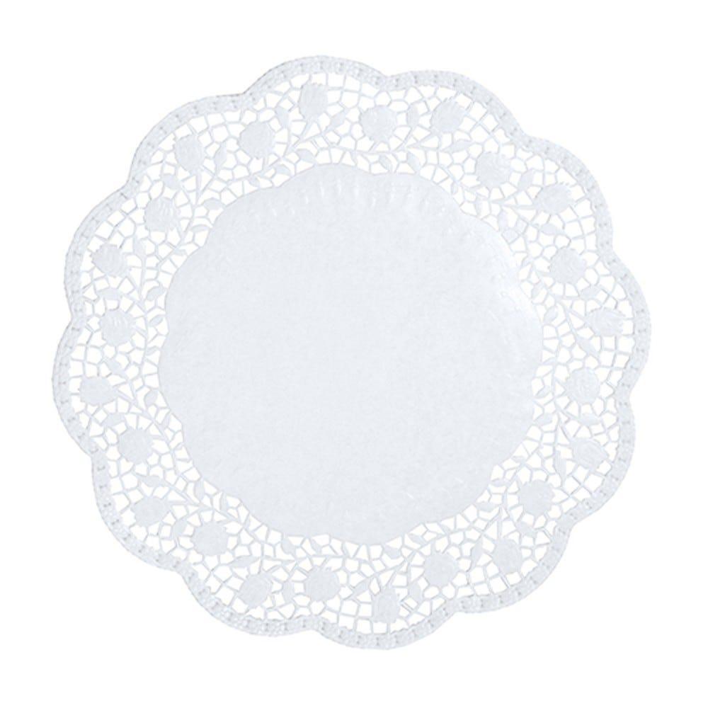 Dentelle ronde Ø 30cm blanc par 2000