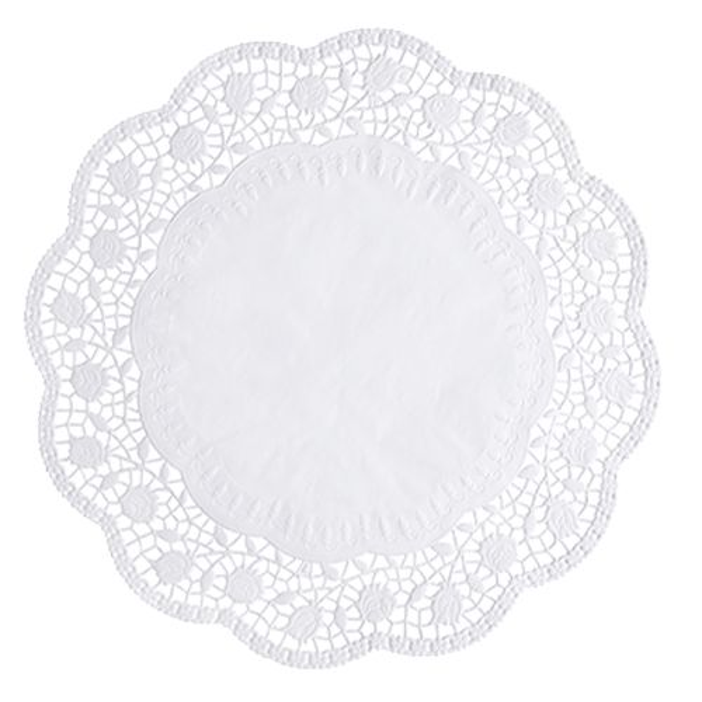 Dentelle ronde Ø 36 cm blanc par 2000