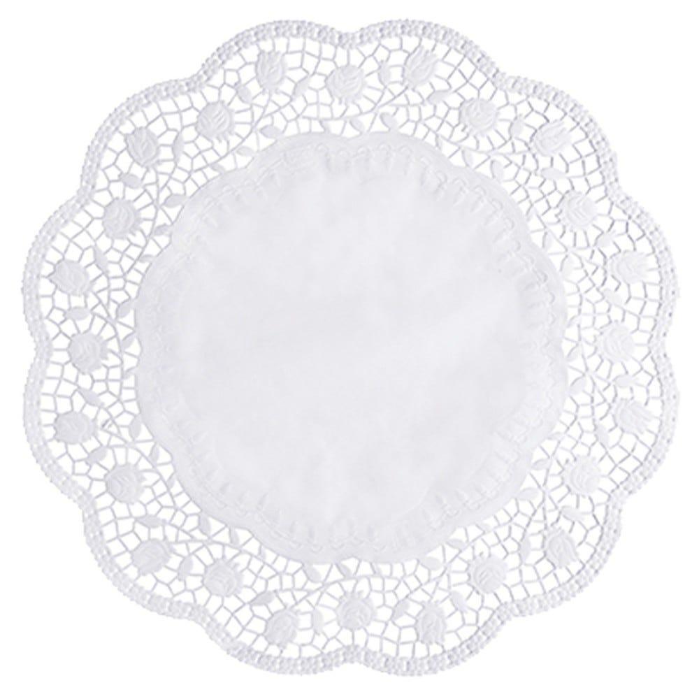 Dentelle ronde Ø 38 cm blanc par 2000