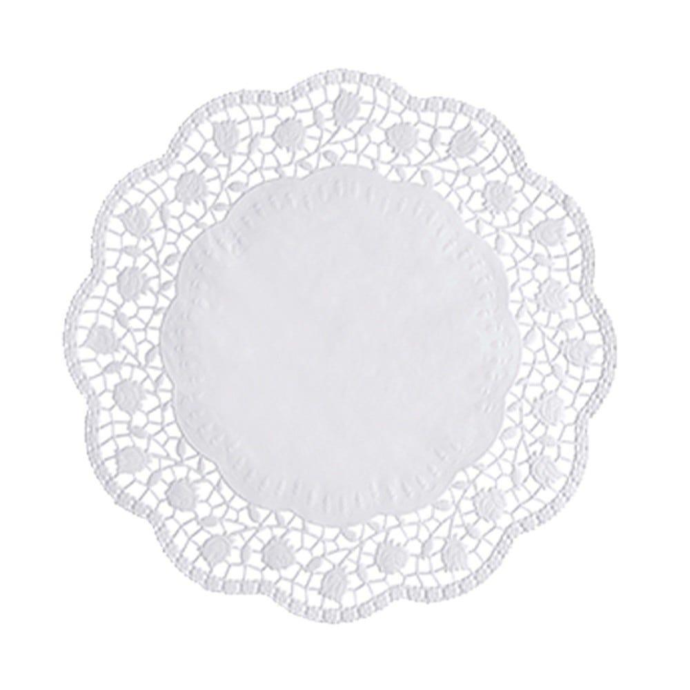Dentelle ronde Ø 28 cm blanc par 2000