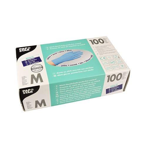 Gant d'examen en Nitrile, sans poudre bleu Taille M par 1000 (photo)