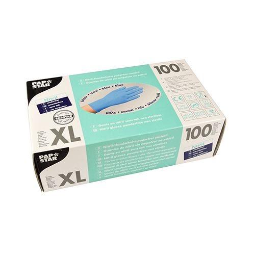 Gant d'examen en Nitrile, sans poudre bleu Taille XL par 1000 (photo)