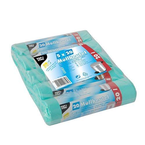 Sac poubelle, HDPE 20 l 50 cm x 45 cm menthe par 2000