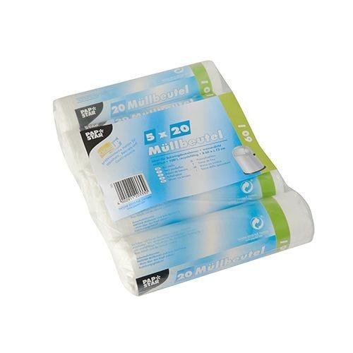 Sac poubelle, HDPE 60 l 72 cm x 60 cm blanc par 500