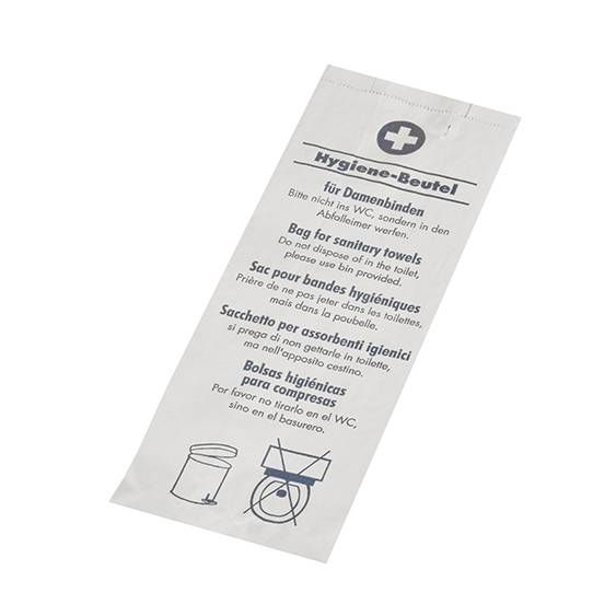 Sac hygiénique 28 cm x 11 cm x 5,5 cm blanc ''Avec motif'' par 1000