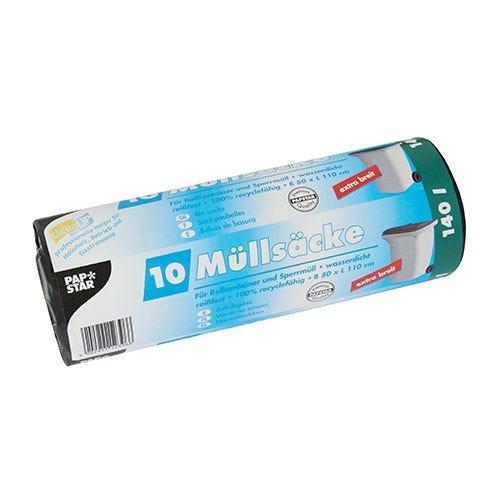 Sac poubelle LDPE 140 l 1 cm x 80 cm noir par 90