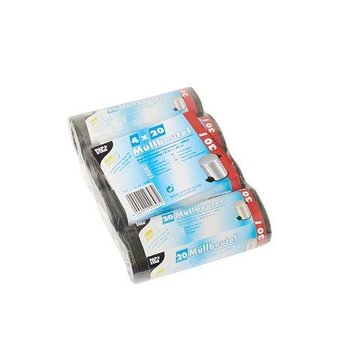 Sac poubelle, LDPE 30 l 60 cm x 50 cm gris par 400