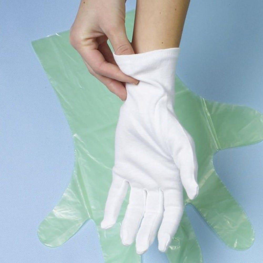 Paire de Gants en coton blanc Taille XL par 144