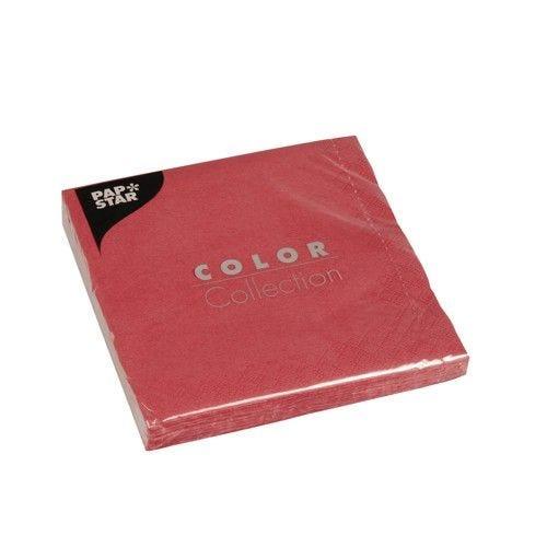 Serviette 3 plis pliage 1/4 33 cm x 33 cm bordeaux par 300