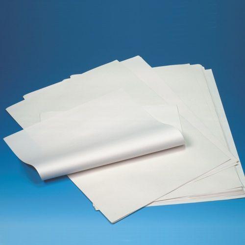 10 kg Papier d'emballage en cellulose 50 cm x 37,5 cm blanc 1/4 feuilles (photo)