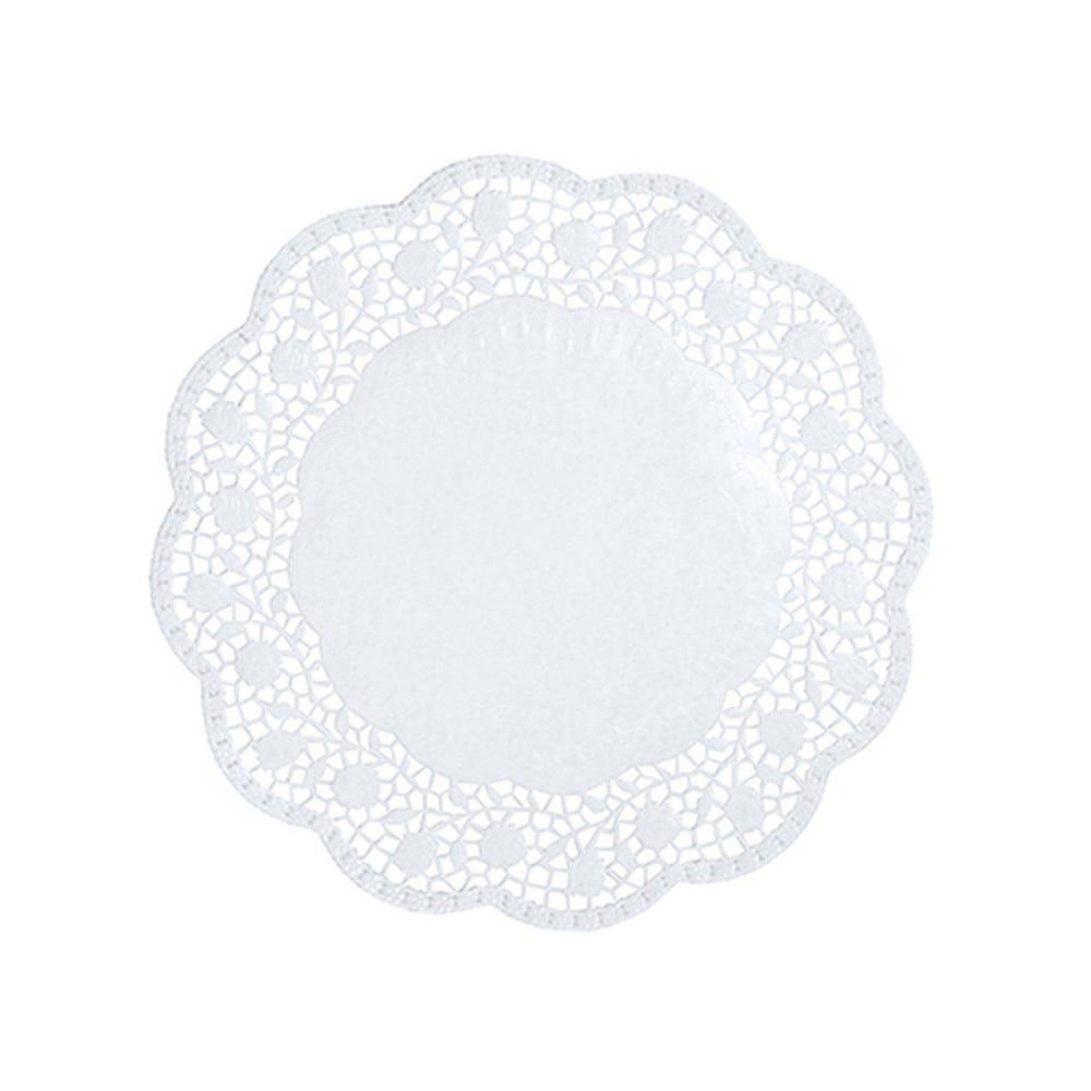 Dentelle ronde Ø 18 cm blanc par 2000