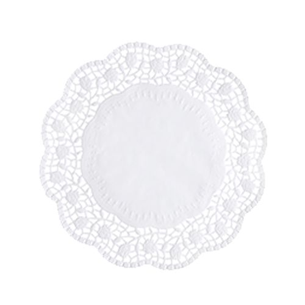 Dentelle ronde Ø 20 cm blanc par 2000