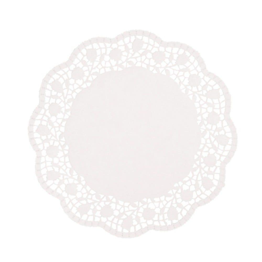 Dentelle ronde Ø 25 cm blanc par 2000