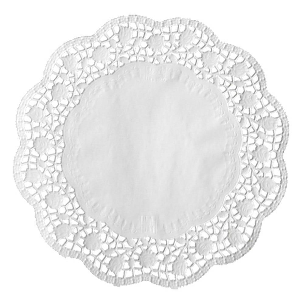 Dentelle ronde Ø 34 cm blanc par 2000