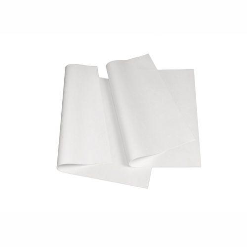 12,5 kg Papier sulfurisé ingraissable, feuilles 1/4 50 cm x 37,5 cm blanc (photo)
