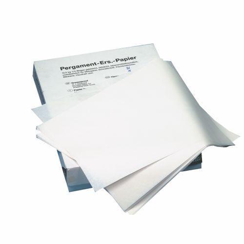 12,5 kg Papier sulfurisé ingraissable, feuilles 1/8 37,5 cm x 25 cm blanc (photo)