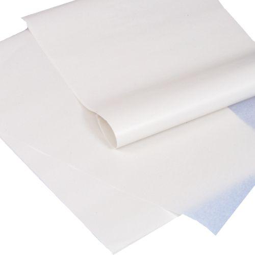 12,5 kg papier emballage ingraissable feuille 1/8, 37,5 cm x 25 cm blanc (photo)