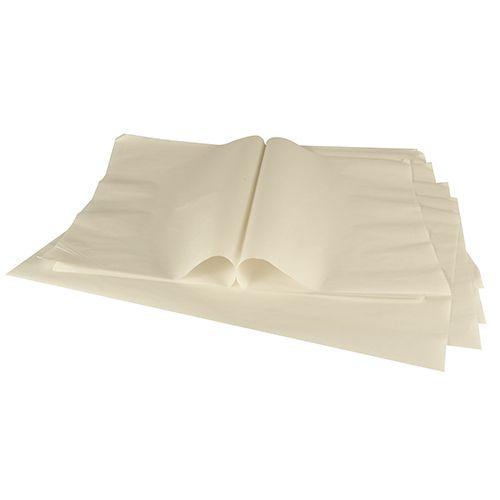 Feuille Papier de soie, 1/4 feuille 50 cm x 37,5 cm blanc par 2000