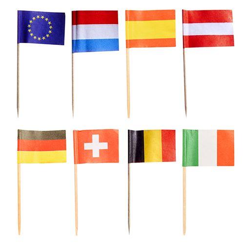 Pique décoratif 8 cm ''Nations'' par 1000