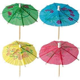 Pique décoratif 10 cm couleurs assorties ''Parasol décoratif'' par 1800