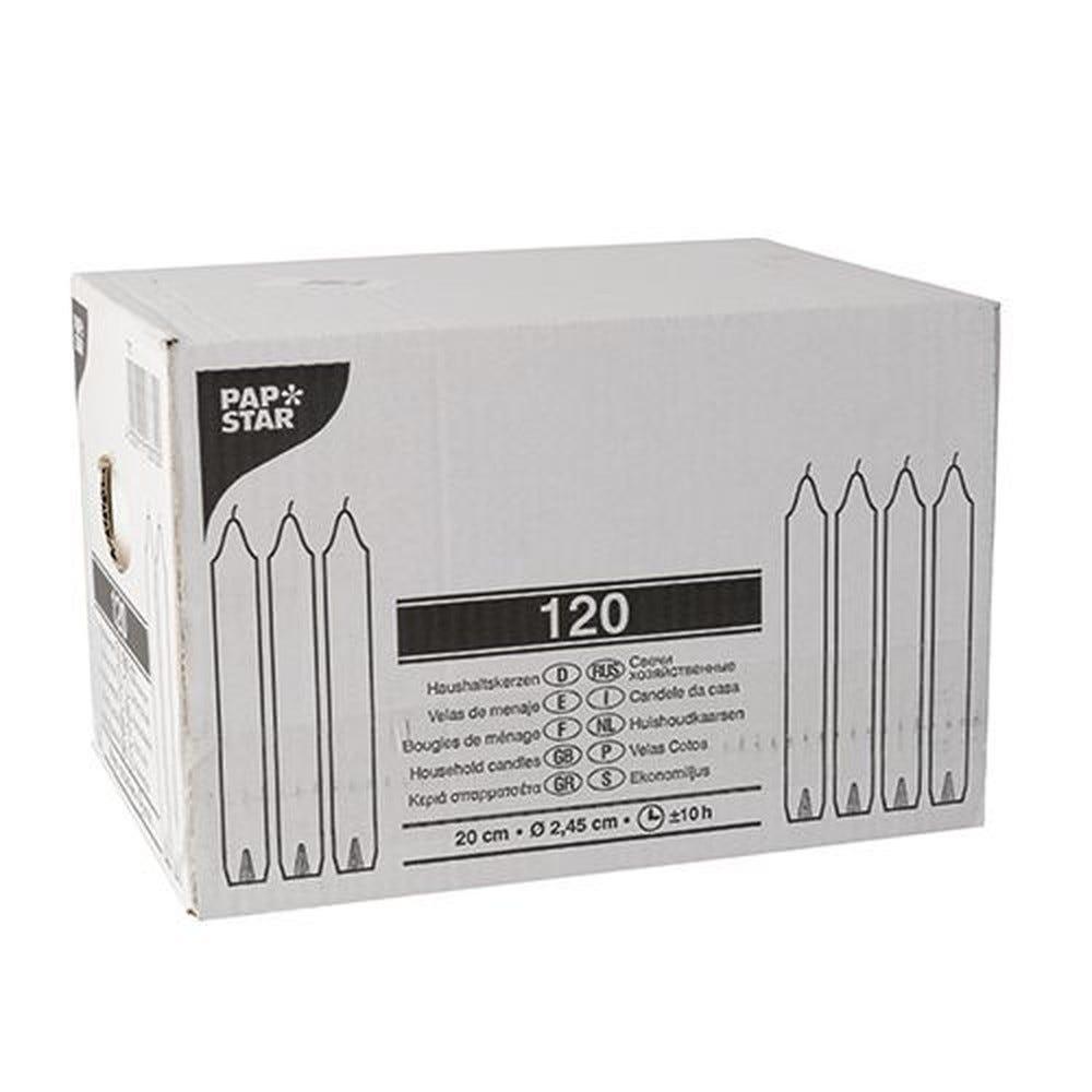 Bougie de ménage Ø 2,45 cm · 20 cm blanc par 120