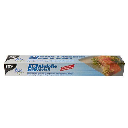 Feuille d'aluminium 10 m x 30 cm en boîte par 24
