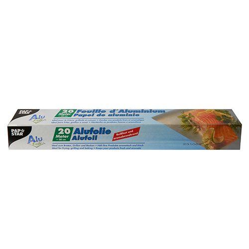 Feuille d'aluminium 20 m x 30 cm en boîte par 24