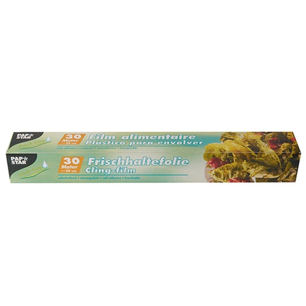 Film plastique alimentaire 30 m x 29 cm en boîte par 24