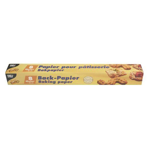 Papier pour pâtisseries 8 m x 38 cm marron en boîte par 24