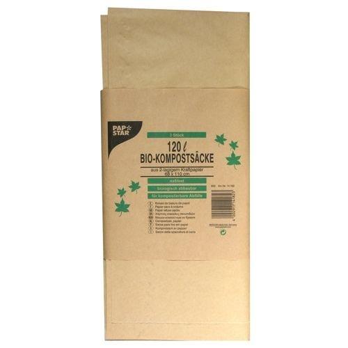 Sac recyclable en papier 120 l 110 cm x 68 cm x 21,5 cm marron par 30